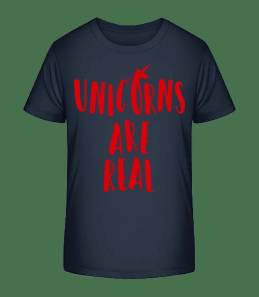 Unicorns Are Real - Kid's Premium Bio T-Shirt - Navy - Vorn
