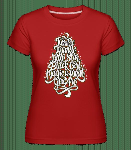 Twinkle Twinkle Little Star -  Shirtinator Women's T-Shirt - Red - Vorn