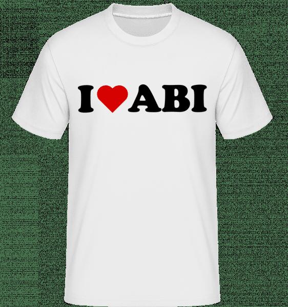 I Love Abi - Shirtinator Männer T-Shirt - Weiß - Vorn