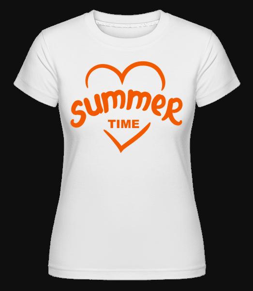Summertime Heart -  Shirtinator Women's T-Shirt - White - Vorn