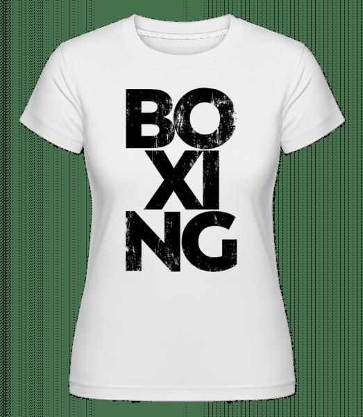 Boxing -  Shirtinator Women's T-Shirt - White - Vorn