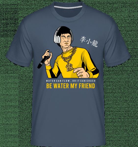 Bruce Lee Rapper -  Shirtinator Men's T-Shirt - Denim - Vorn