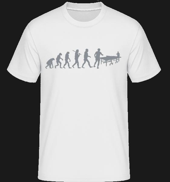 Evolution Of Table Tennis -  Shirtinator Men's T-Shirt - White - Vorn