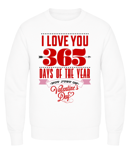 I Love You 365 Days Of The Year - Men's Sweatshirt AWDis - White - Vorn