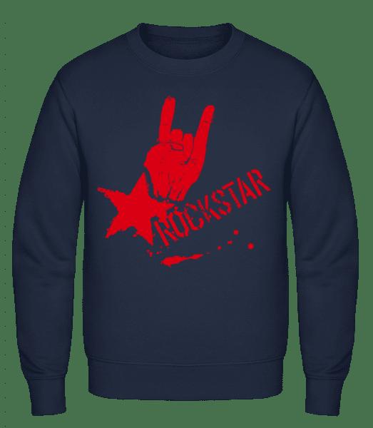 Rockstar Symbol - Classic Set-In Sweatshirt - Navy - Vorn