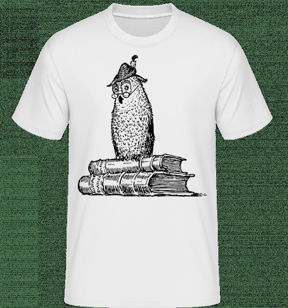 Teacher Owl -  Shirtinator Men's T-Shirt - White - Vorn