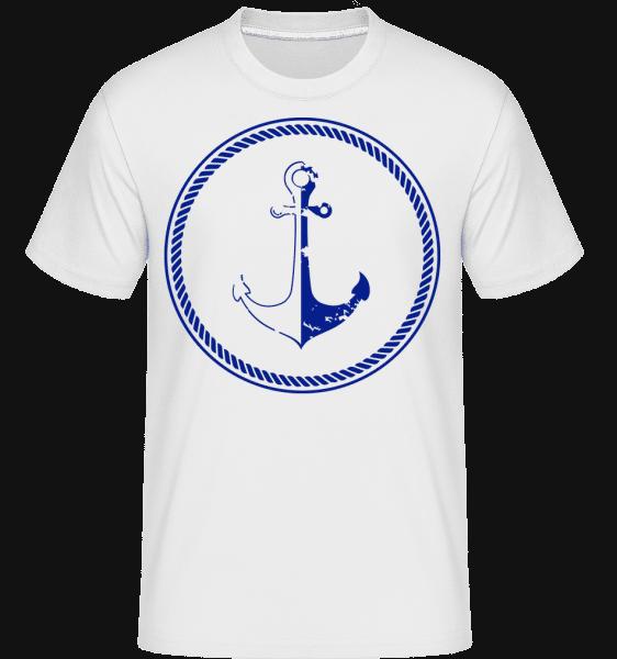Anchor Symbol -  Shirtinator Men's T-Shirt - White - Vorn