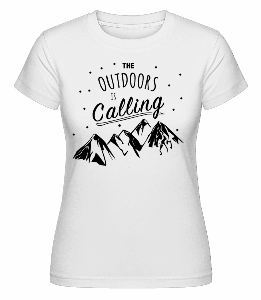 The Outdoors Is Calling -  Shirtinator Women's T-Shirt - White - Vorn