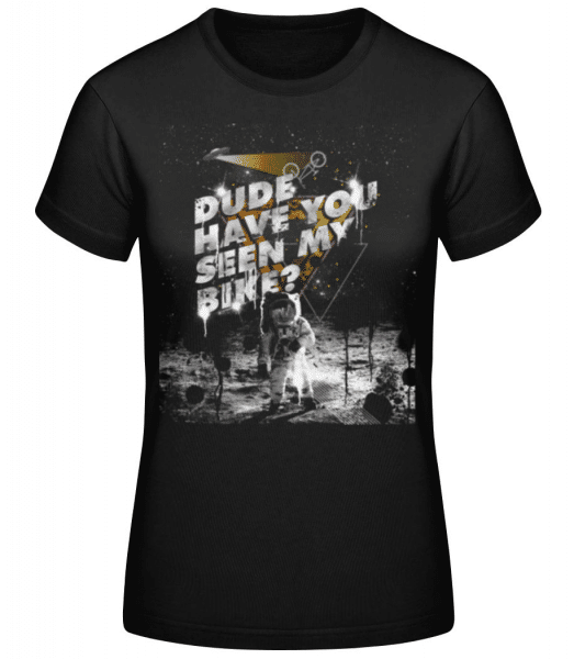 Neviděli jste mé kolo - Dámské basic tričko - Černá - Napřed