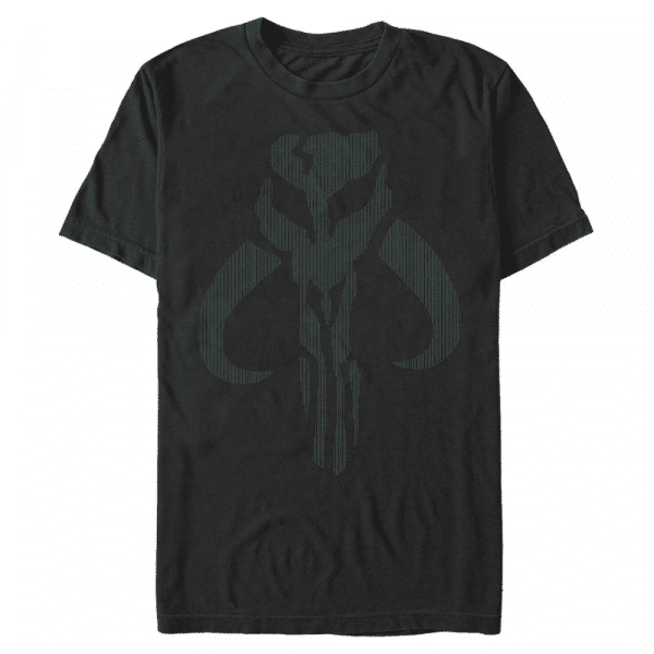Mando Color Change Symbol - Star Wars The Mandalorian - Men's T-Shirt - Black - Front