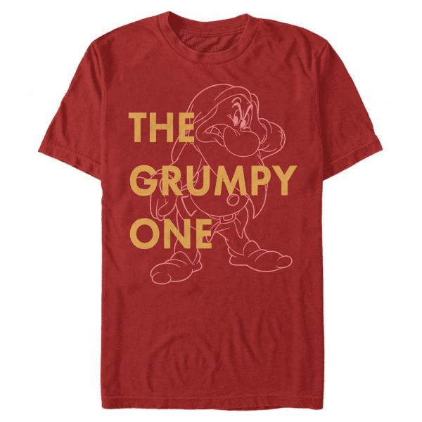 One Grumpy Dwarf - Disney Snow White - Men's T-Shirt - Red - Front