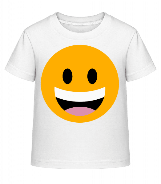 Laughing Smiley - Kid's Shirtinator T-Shirt - White - Vorn