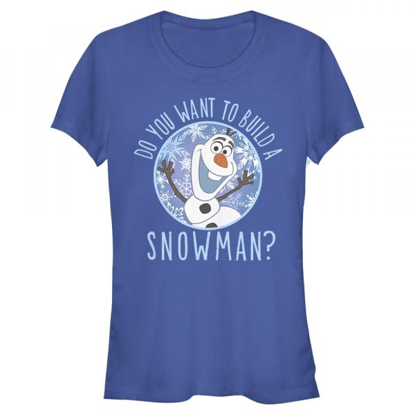 Build a Snowman Olaf - Disney Frozen - Women's T-Shirt - Royal blue - Front