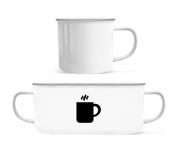 Black Coffee - Enamel-cup - White - Front
