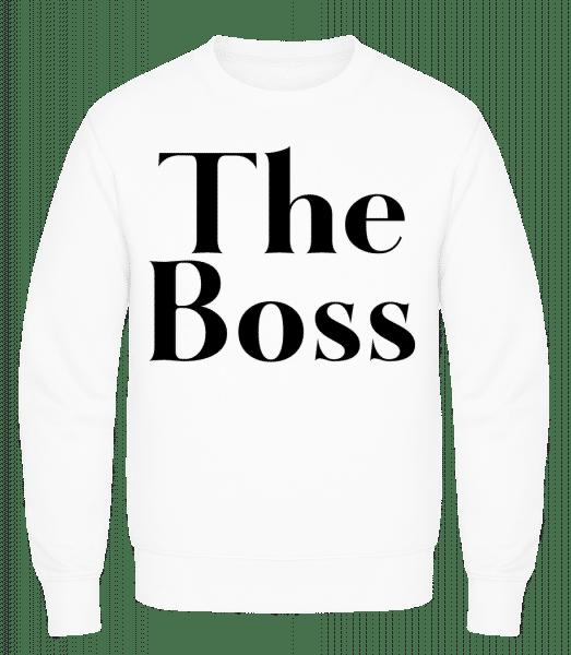 The Boss - Men's Sweatshirt AWDis - White - Vorn