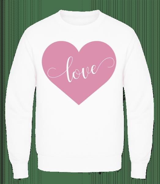Love - Men's Sweatshirt AWDis - White - Vorn