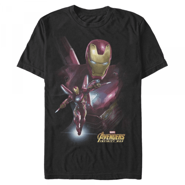 Space Suit Iron Man - Marvel Avengers Infinity War - Men's T-Shirt - Black - Front