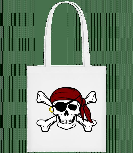 Pirate Skull - Carrier Bag - White - Vorn