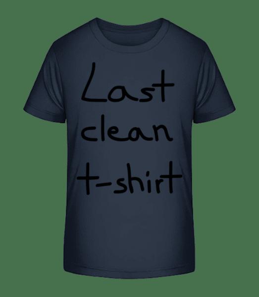 Last Clean T-Shirt - Kid's Premium Bio T-Shirt - Navy - Vorn