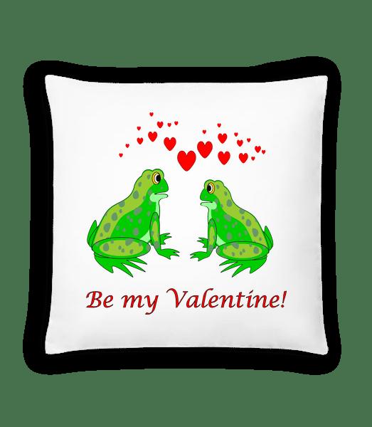 Frogs Be My Valentine - Cushion - White - Vorn