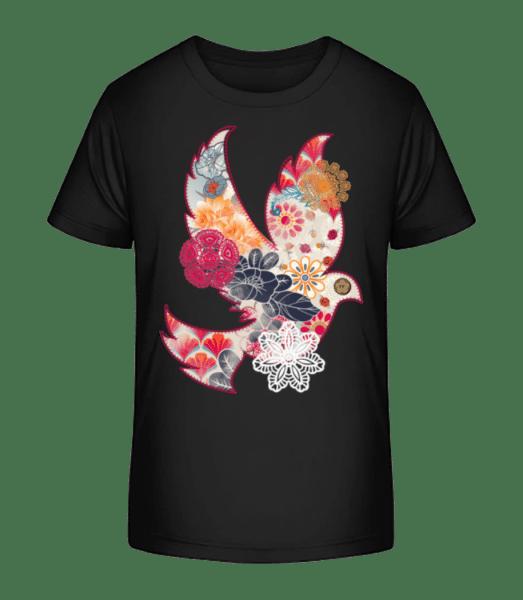 Sewn On Bird Collage - Kid's Premium Bio T-Shirt - Black - Vorn