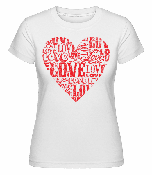Love Heart Red -  T-shirt Shirtinator femme - Blanc - Vorn