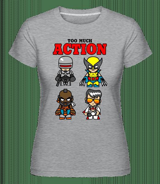 Action - Shirtinator Frauen T-Shirt - Grau meliert - Vorn