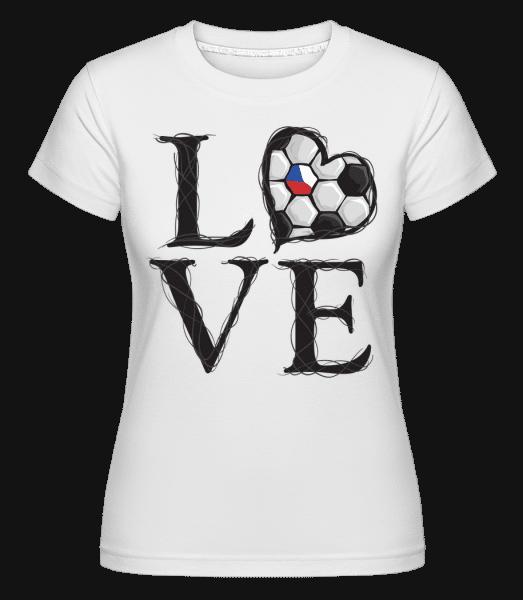 Football Love Czech Republic -  Shirtinator Women's T-Shirt - White - Vorn
