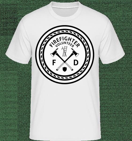 Firefighter - Shirtinator Männer T-Shirt - Weiß - Vorn
