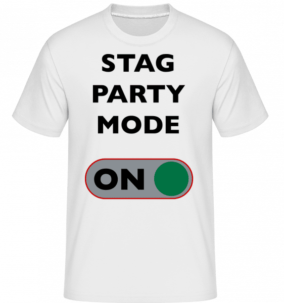 Stag Party Mode On -  Shirtinator Men's T-Shirt - White - Vorn