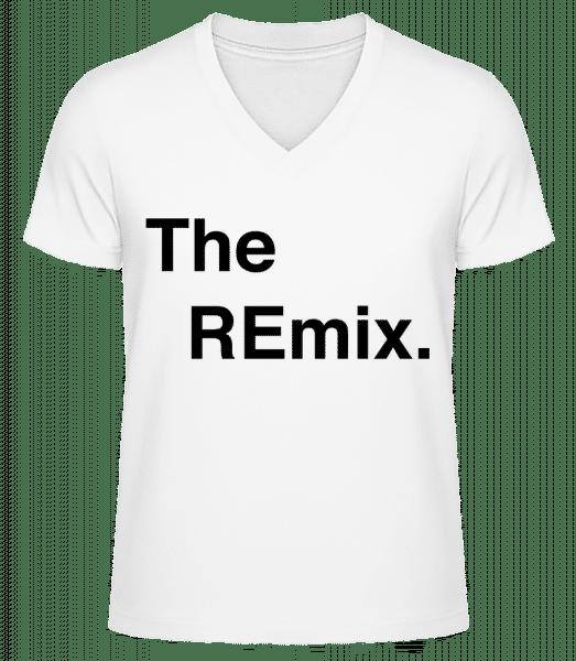The REmix - T-shirt bio col en V Homme - Blanc - Vorn