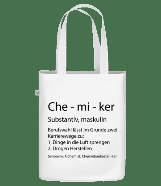 Chemiker Quatsch Duden - Bio Tasche - Weiß - Vorn