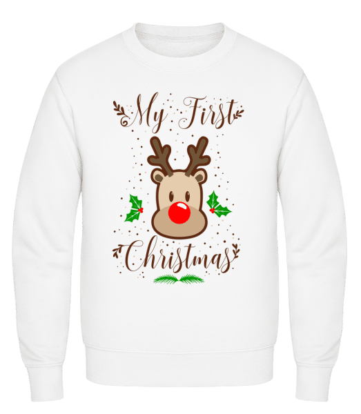 My First Christmas - Classic Set-In Sweatshirt - White - Vorn