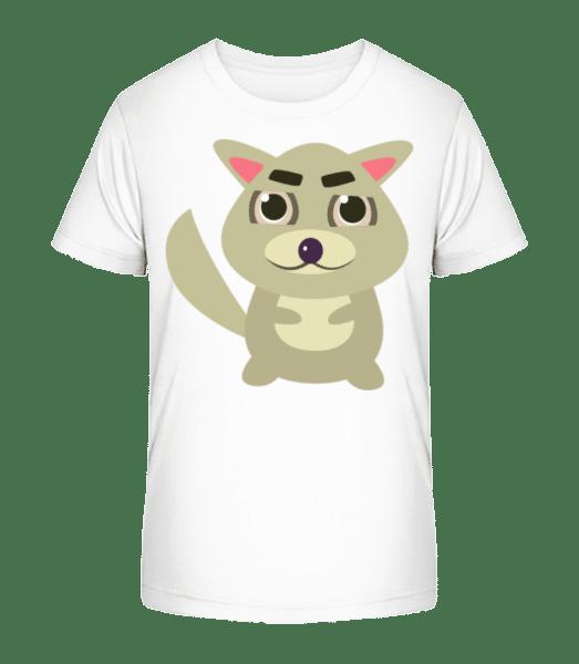 Racoon Comic - Detské Premium Bio tričko - Bílá - Napřed