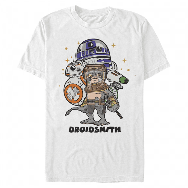 Droid Smith Babu Frik - Star Wars the Rise of Skywalker - Men's T-Shirt - White - Front