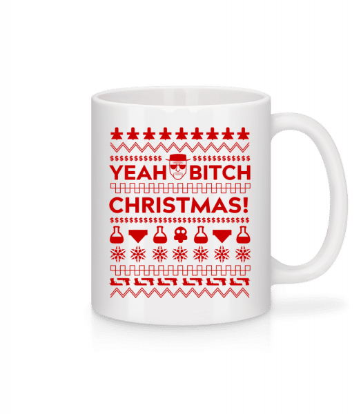 Yeah Bitch Christmas - Mug - White - Vorn