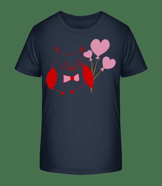 láska Owl - Detské Premium Bio tričko - Namořnická modrá - Napřed