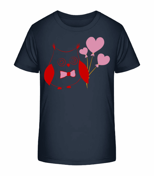Love Owl - Kid's Premium Bio T-Shirt - Navy - Front