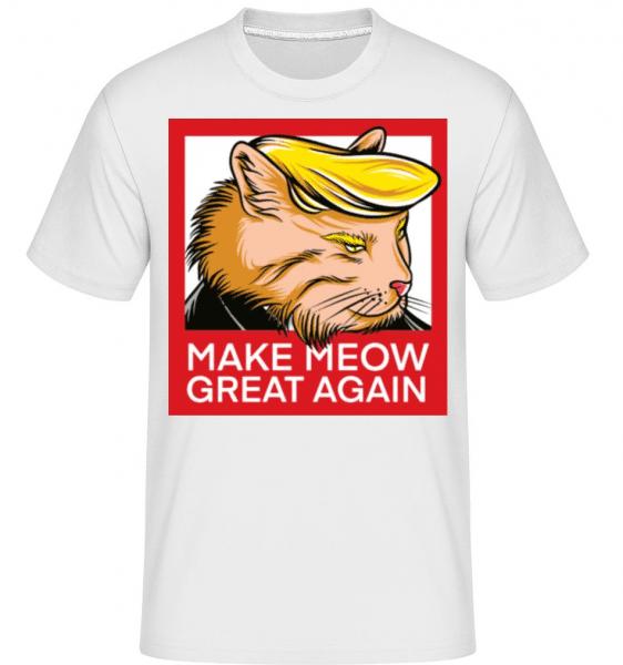 Make Meow Great Again -  Shirtinator Men's T-Shirt - White - Front