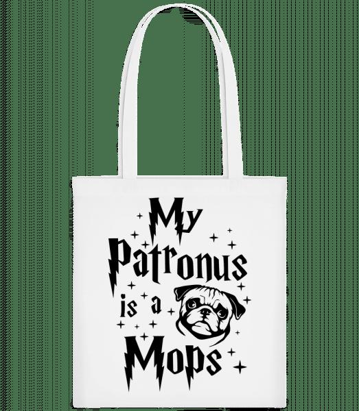 My Patronus Is A Mops - Taška Carrier - Bílá - Napřed
