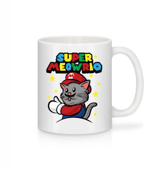 Super Meowrio - Mug - White - Front