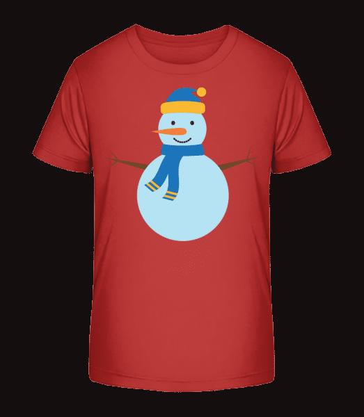 Sněhulák s Cap - Detské Premium Bio tričko - Třešeňová - Napřed