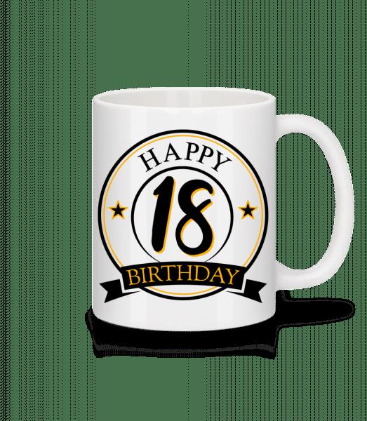 Happy Birthday 18 - Mug - White - Vorn