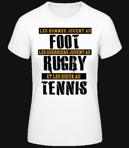Les Dieux Jouent Au Tennis - T-shirt standard Femme - Blanc - Vorn