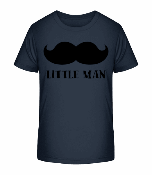 Little Man Mustache - Kid's Premium Bio T-Shirt - Navy - Vorn