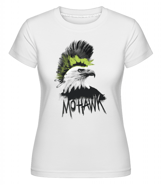 Mohawk -  Shirtinator Women's T-Shirt - White - Vorn