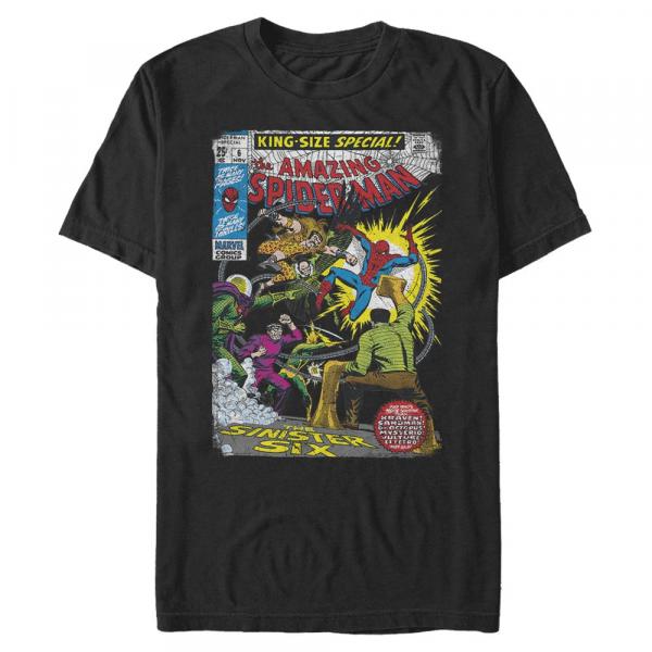 Sinister 6 Comic - Marvel Spider-Man - Men's T-Shirt - Black - Front
