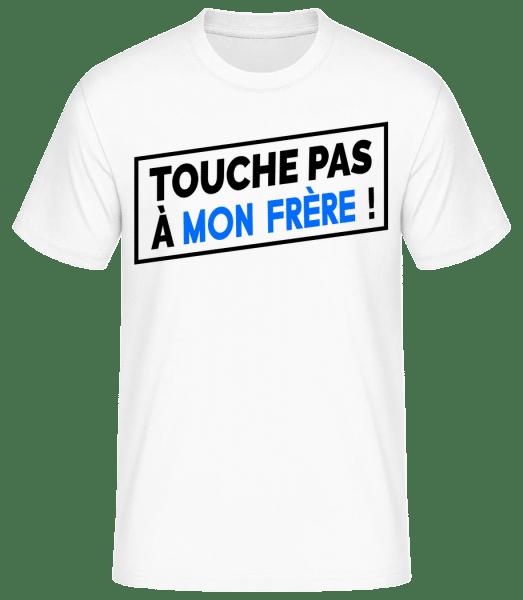 Touche Pas À Mon Frère - T-shirt standard Homme - Blanc - Vorn