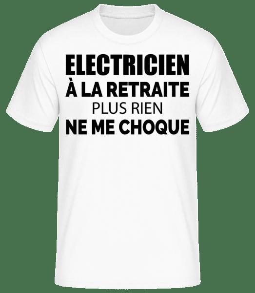 Electricien À La Retraitre - T-shirt standard Homme - Blanc - Vorn