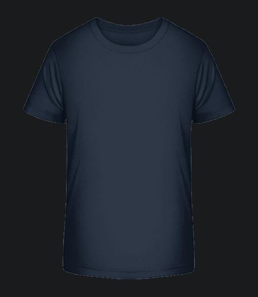 Kinder Premium Bio T-Shirt - Marine - Vorn